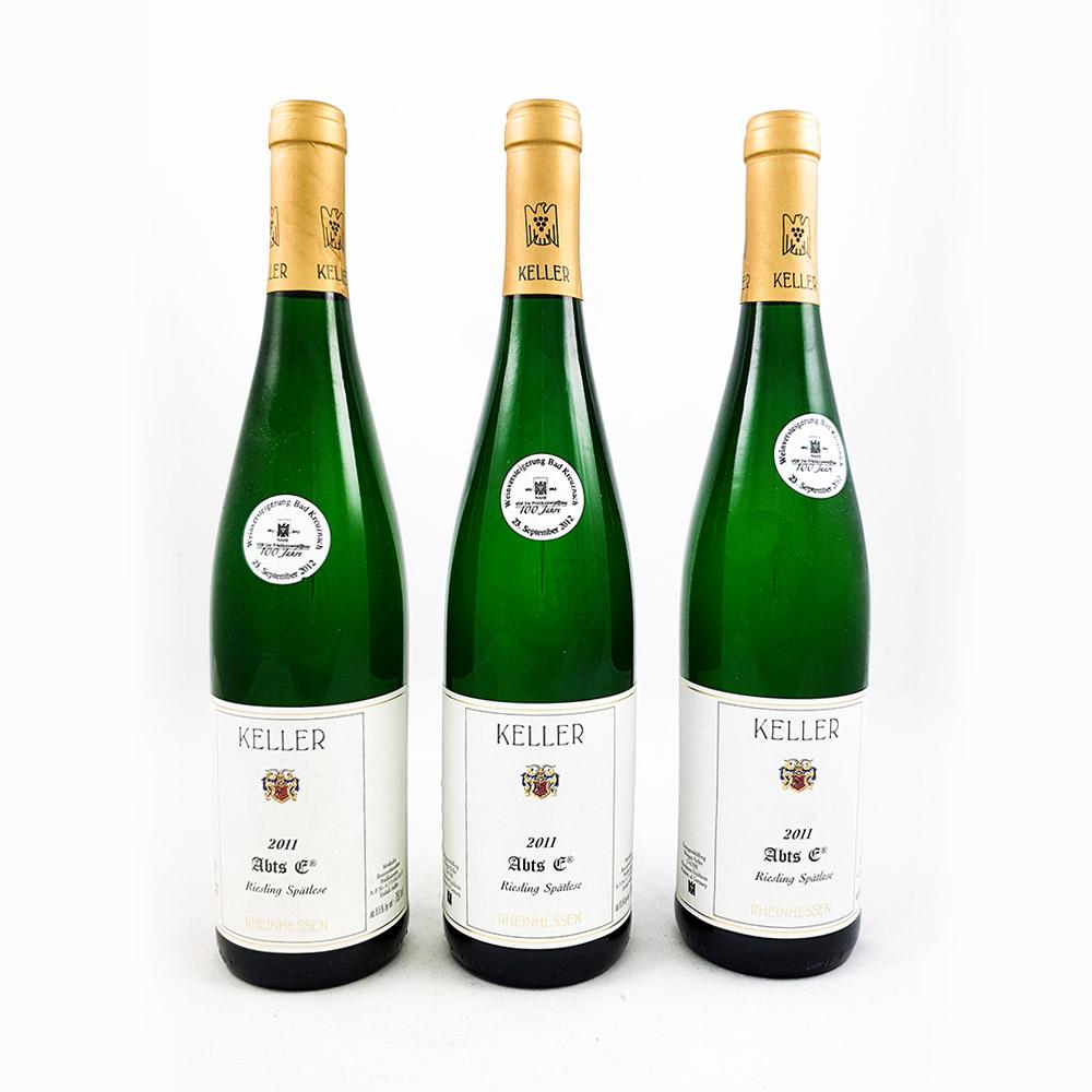 LOT #71 - 3 x Weingut Keller AbtsE Spätlese Goldkapsel Versteigerung 2011